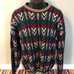 80s Funky Epic Pattern Sweater Striped XL